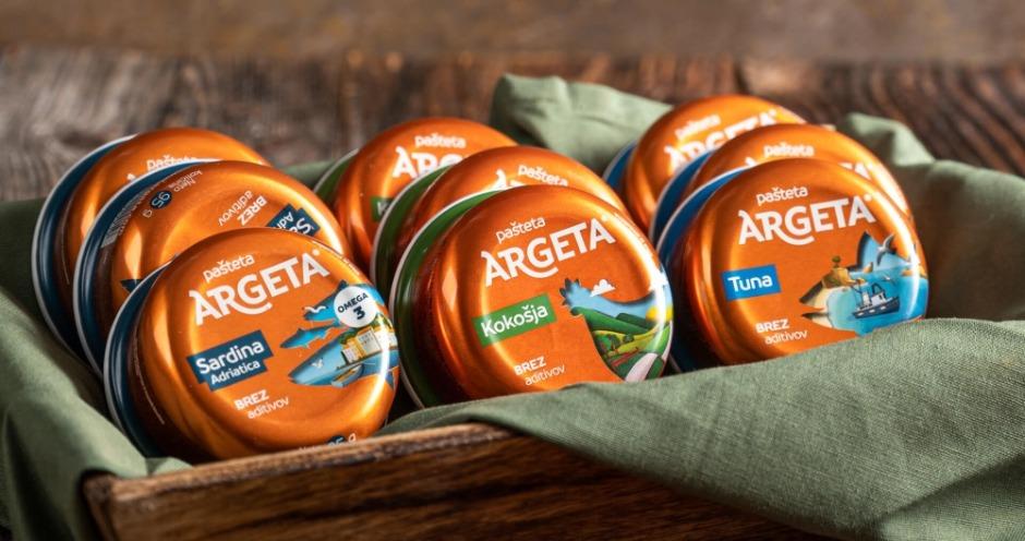Argeta выпускает мясные и рыбные паштеты в обновленной упаковке