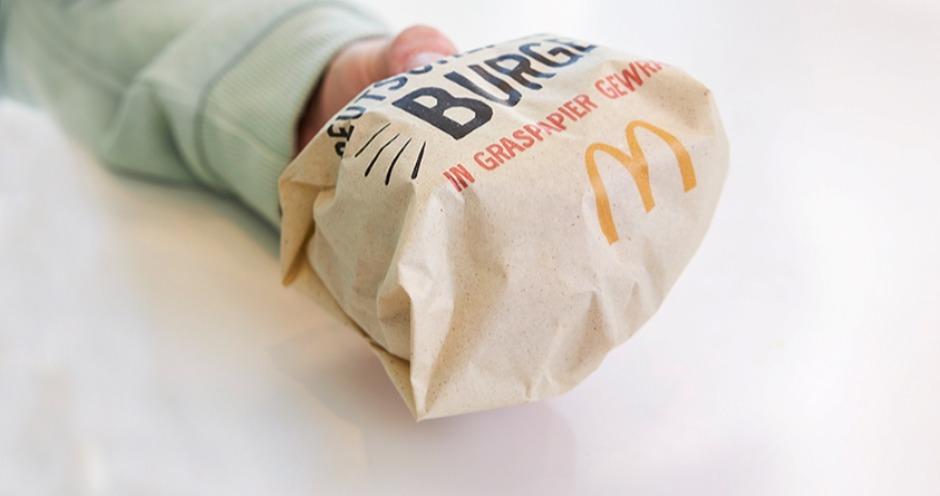 Германия: McDonald's запустил продажи бургеров в упаковке из травы